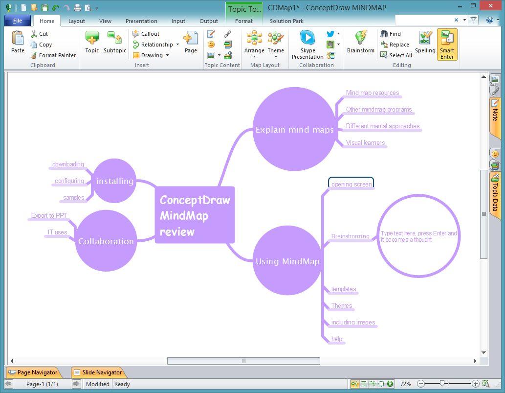 using mindmap 7 - Conceptdraw Mind Map