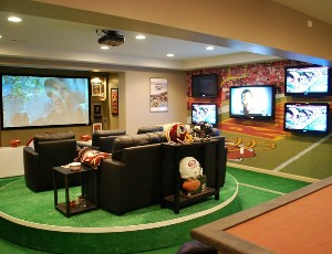 Nfl Super Fan Man Cave Has 7 Screens The Channelpro Network