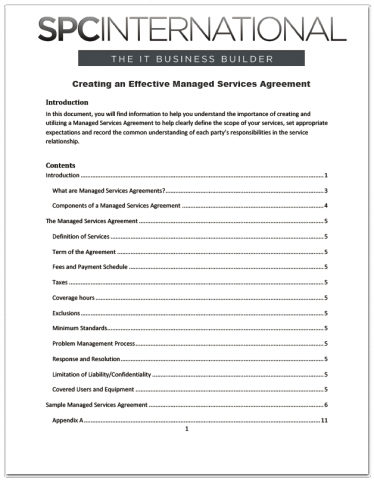 Creating An Effective Managed Services Agreement The Channelpro