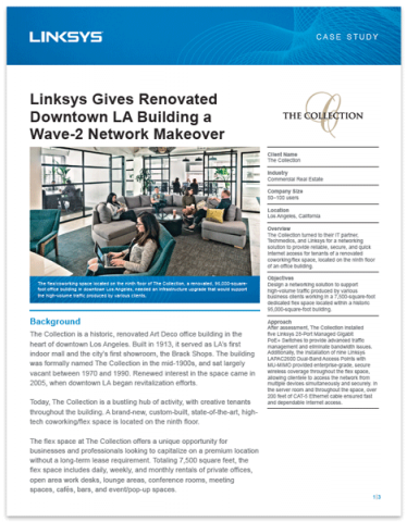 Linksys Gives Renovated Downtown LA Building a Wave-2 Network