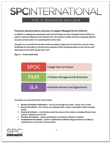 Processes And Procedures Necessary For Managed Services Delivery
