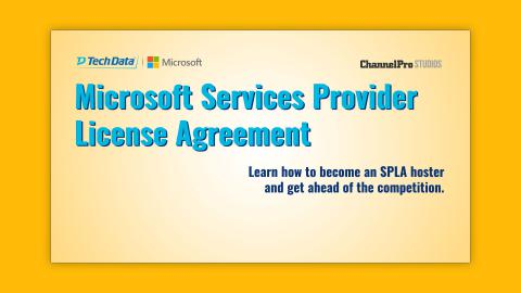 Microsoft Services Provider License Agreement The Channelpro Network