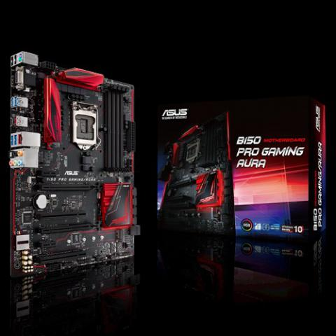 ASUS Unveils B150 Pro Gaming/Aura Motherboards with RGB LED Lighting