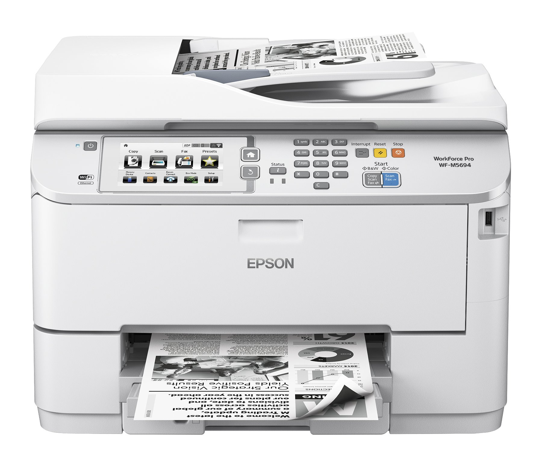 Epson WorkForce Pro M5694 Review: Fast, Quality Printing | The