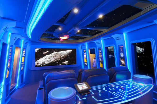 4 Rooms With Out-of-This-World Star Wars Home Theater Design | The ...