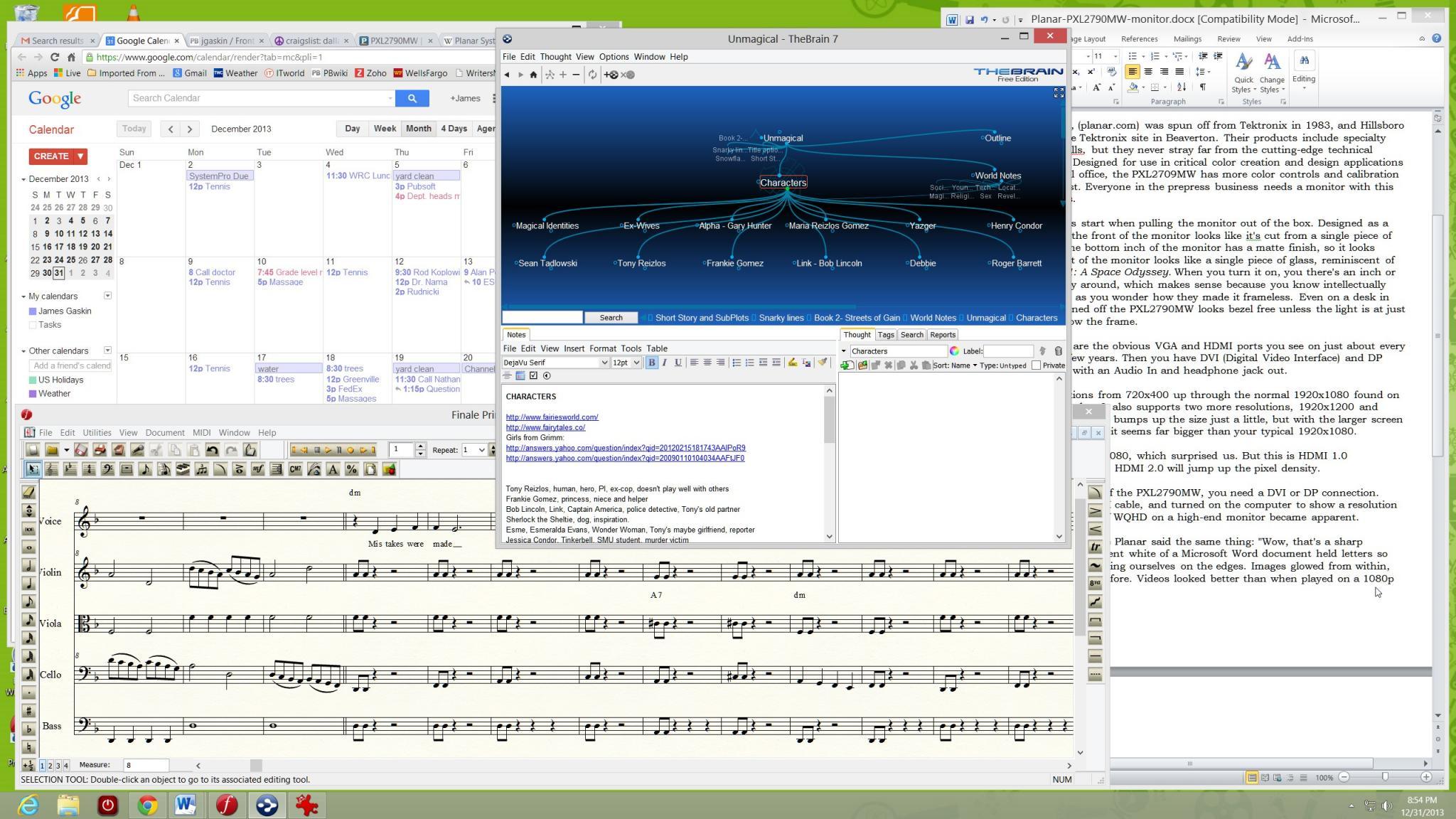 Planar PXL2790MW WQHD Monitor Review - Danger! Sharp Text Ahead